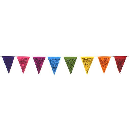 Bunting Hippy Bohemian Triangle Rainbow Tattoo Design Flag Bunting