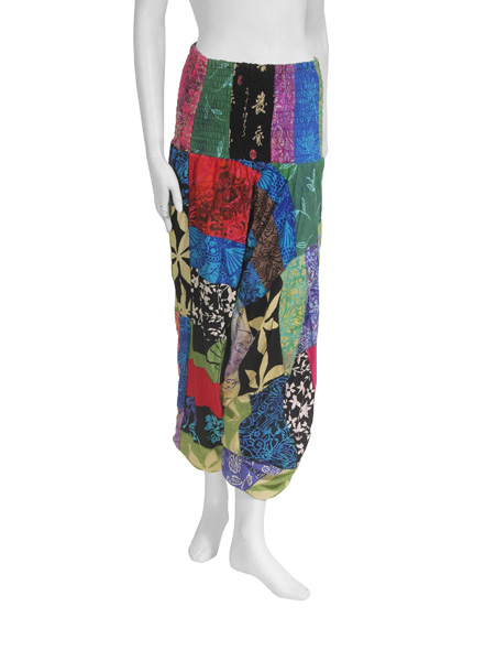 Hippy Trousers~Ethnic Patchwork Ali Baba Harem Trousers~Fair Trade By Folio Gothic Hippy~BP15