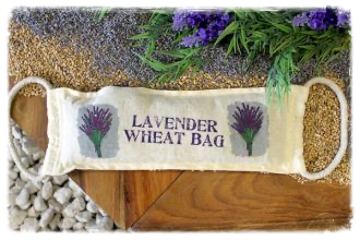 Natural Cotton Lavender Wheat Cushion with Handles