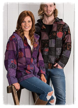 Patchwork Purple Hoody Jacket