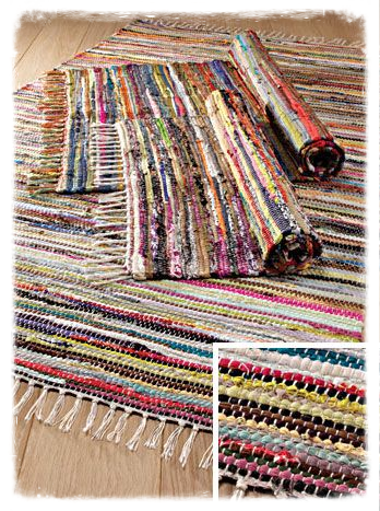 Recycled Cotton Rag Rug - 60x150cm