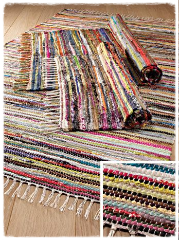 Recycled Cotton Rag Rug - 60x90cm