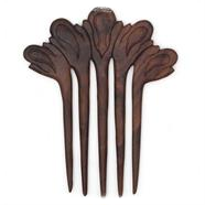 Wooden Hair Fork - Five Prong